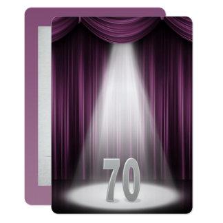 Tarjeta 70.o Aniversario de bodas de plata