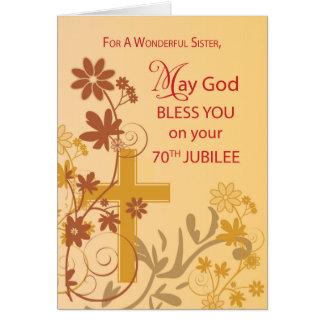 Tarjeta 70.o Cruz de la monja del aniversario del jubileo,