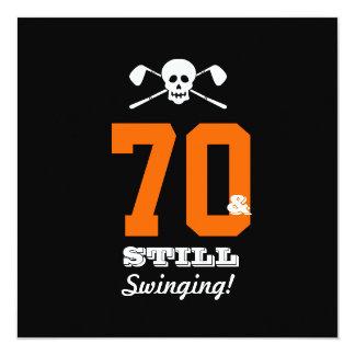 Tarjeta 70.o ¡Golf de la fiesta de cumpleaños - todavía