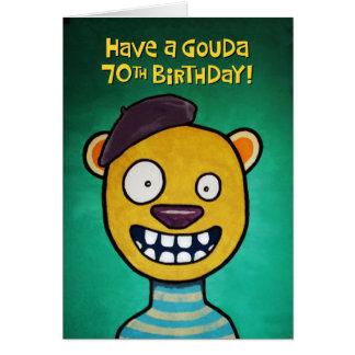 Tarjeta 70.o saludo chistoso del cumpleaños