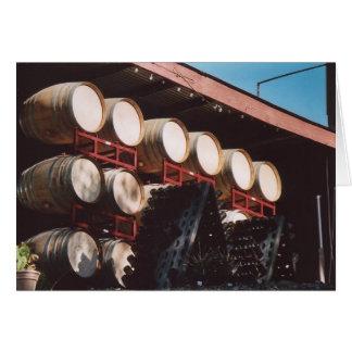 Tarjeta 74. Barriles de vino, el condado de Sonoma, CA