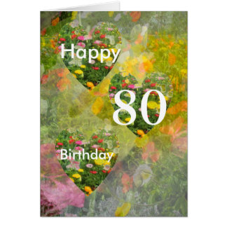 Tarjeta 80.o Cumpleaños