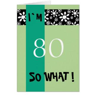 Tarjeta 80.o De motivación divertido del cumpleaños