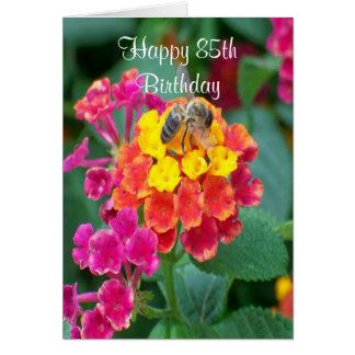 Tarjeta 85o cumpleaños de la abeja