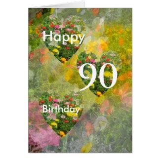Tarjeta 90.o Cumpleaños