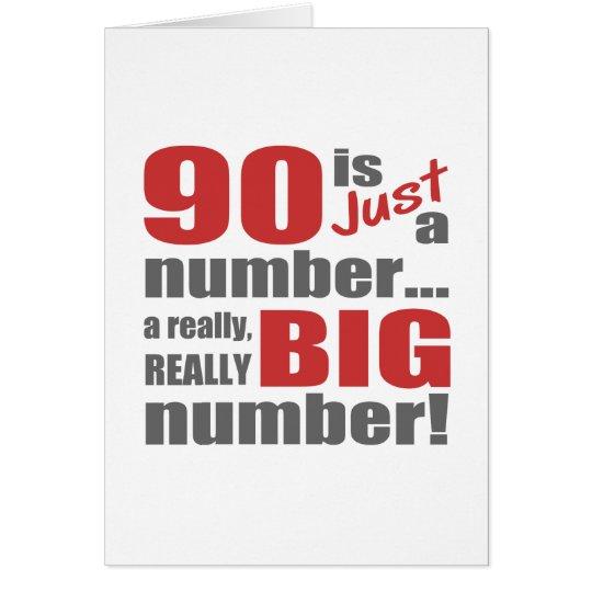 Tarjeta 90.o cumpleaños grande