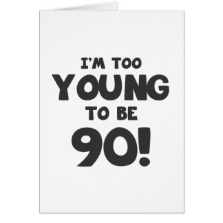 Tarjeta 90.o Humor del cumpleaños