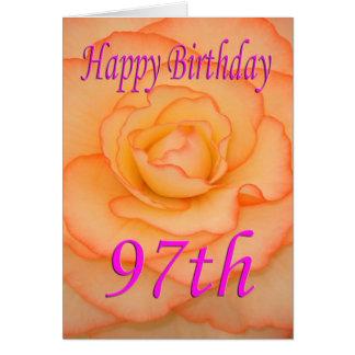 Tarjeta 97.a flor feliz del cumpleaños