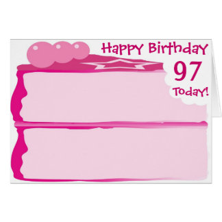 Tarjeta 97.o cumpleaños feliz
