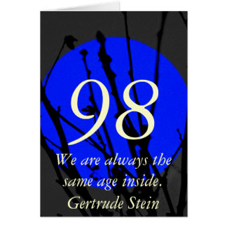 Tarjeta 98.o Cumpleaños