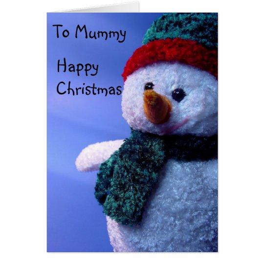 Tarjeta A la momia, felices Navidad