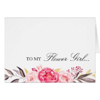 Tarjeta A mi florista, gracias, banquete de boda