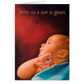Tarjeta A nosotros dan un hijo
