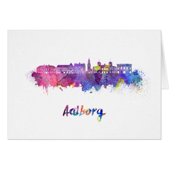 Tarjeta Aalborg skyline in watercolor