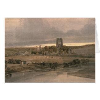 Tarjeta Abadía de Kirkstall, Yorkshire - tarde