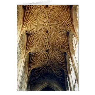 Tarjeta Abadía del baño, techo saltado, Inglaterra