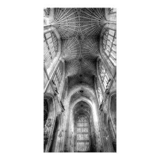 Tarjeta Abadía Somerset Inglaterra del baño