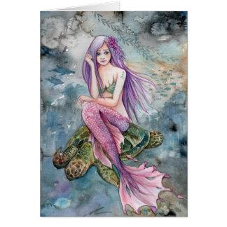 Tarjeta Abajo en la Atlántida - sirena