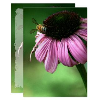 Tarjeta Abeja en la flor