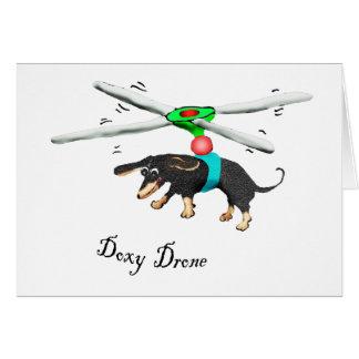 Tarjeta Abejón del Doxy, vuelo del dachshund con un abejón