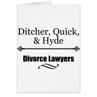Tarjeta Abogados de divorcio