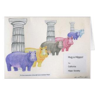 Tarjeta ¡Abrace un hipopótamo!