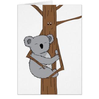 Tarjeta Abrazo de la koala