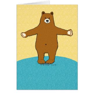 Tarjeta Abrazo de oso del estímulo