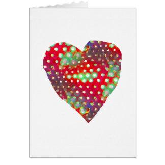 Tarjeta abstracta del corazón