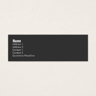Tarjeta abstracta del perfil Retro-MOD