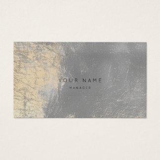 Tarjeta abstracta gris de cuero metálica de la