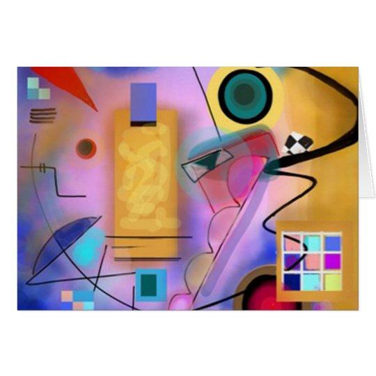 Tarjeta abstracta y chillona