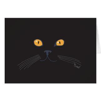 Tarjeta ¡Abucheo del gato negro!