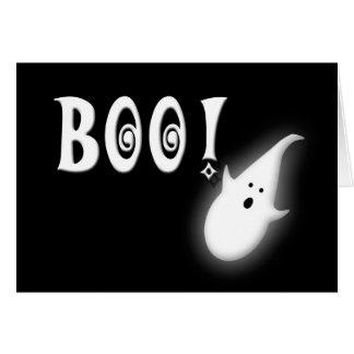 Tarjeta ¡Abucheo! Niños del feliz Halloween