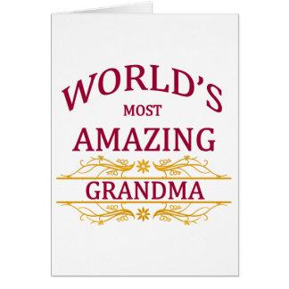 Tarjeta Abuela asombrosa