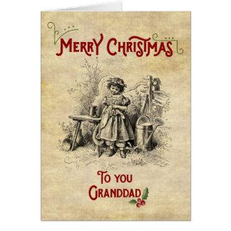 Tarjeta Abuelo de las Felices Navidad