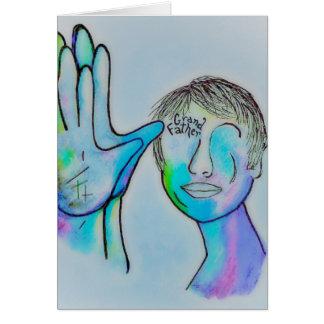 Tarjeta Abuelo del ASL en insinuaciones azules