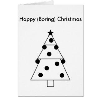 Tarjeta aburrida divertida de las felices Navidad