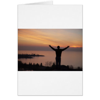 Tarjeta Acantilado de la puesta del sol