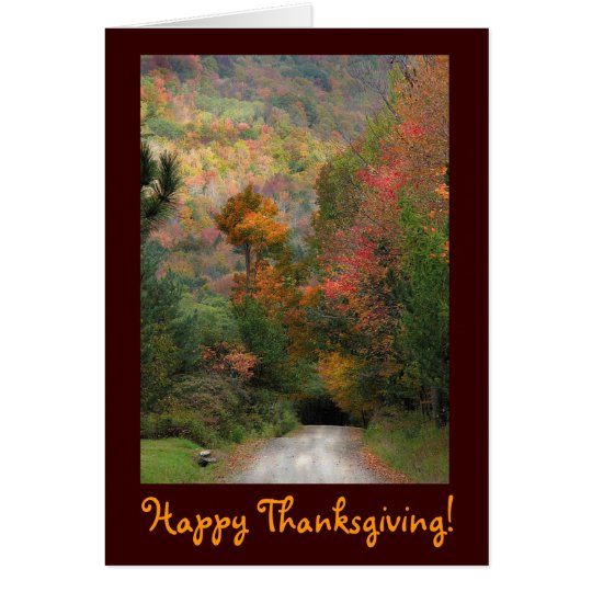 Tarjeta Acción de gracias de la carretera nacional