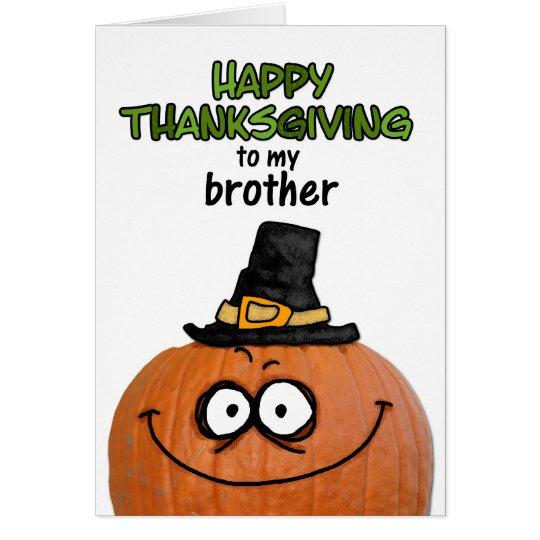 Tarjeta Acción de gracias feliz a mi Brother
