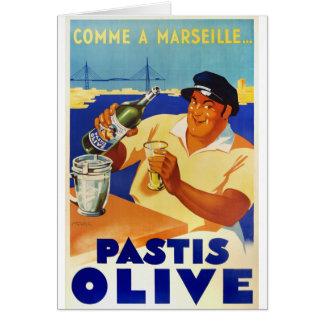 Tarjeta Aceituna de Pastis - Comme una Marsella