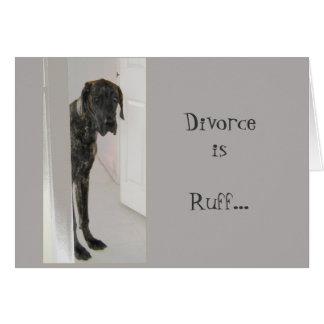Tarjeta Acerino del divorcio del perro casero de great