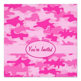 Tarjeta Acontecimiento rosado y fucsia del fiesta del