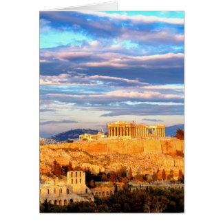 Tarjeta Acrópolis de Atenas