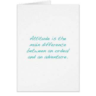 Tarjeta Actitud -- prueba dura o aventura (verde)