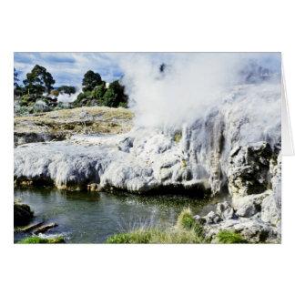 Tarjeta Actividad geotérmica, Rotorua, isla del norte
