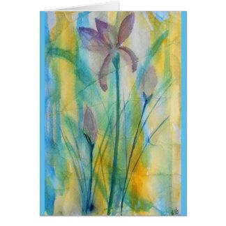 Tarjeta Acuarela abstracta de los iris, suave y vibrante