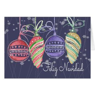 Tarjeta Acuarela de las chucherías del navidad de Feliz