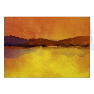 Tarjeta Acuarela del paisaje de la serenidad
